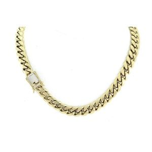 Harlembling 14k Gold Diamond Clasp link Chain